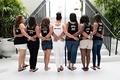 African American bridesmaids in custom tank tops