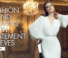Fashion trend gowns with statement sleeves bridal fashion trends