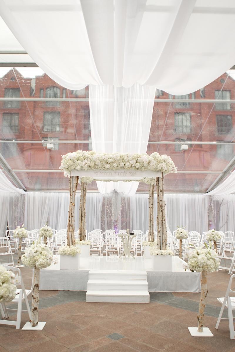 Ceremony Décor Photos - Wintry Ceremony Décor - Inside Weddings