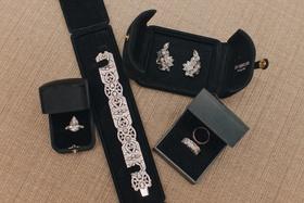 Nick Carter's wife Lauren Kitt's bridal jewelry