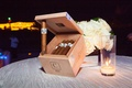 wooden box of cigars, cigar station at wedding reception
