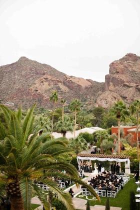 Brandon Wood's wedding ceremony in Arizona