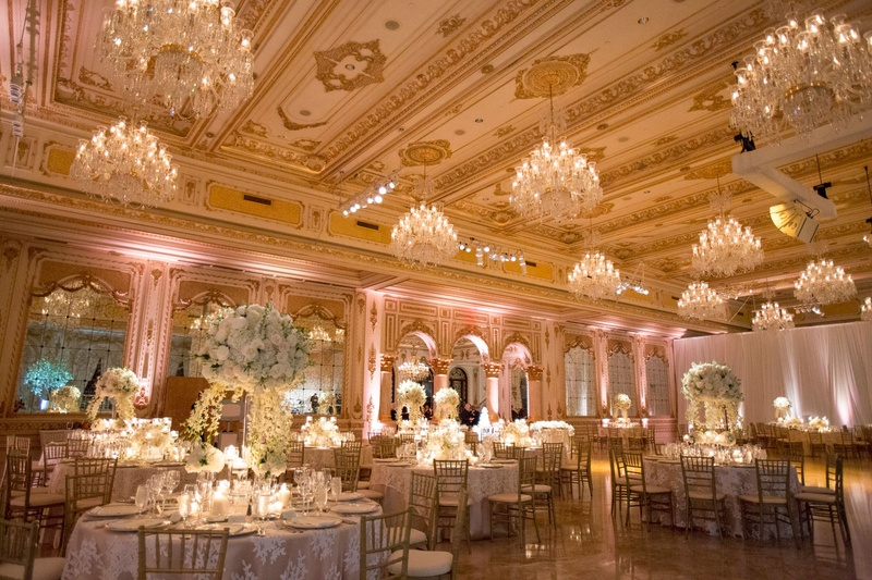 Reception dcor photos opulent ballroom in palm beach inside wedding reception opulent sophisticated ballroom with chandeliers gold ceilings high low centerpiece junglespirit Choice Image