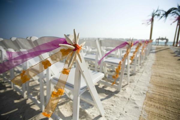 Citrus-Colored Beach Wedding In Naples, Florida