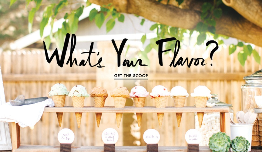 How to serve ice cream at your wedding reception
