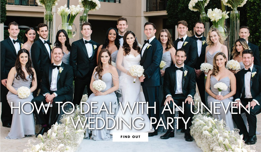 how to deal with an uneven wedding party bridesmaids groomsmen bridesmaid groomsman order uneven