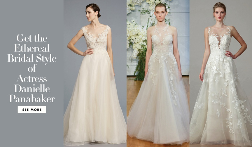 get the look danielle panabaker the flash star married hayes robbins disney channel wedding gowns