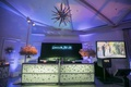 wedding after party light up illuminated bar chandelier photo booth purple lighting