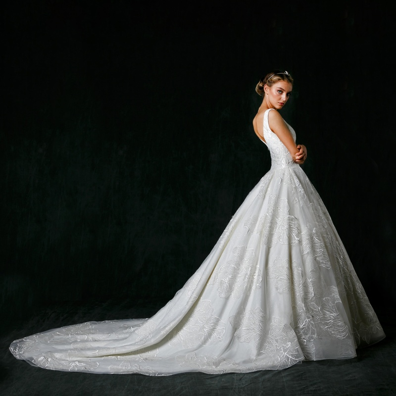 "Dramatic Ball Gown Wedding Dresses: ""Alessandra"" By Sareh Nouri"