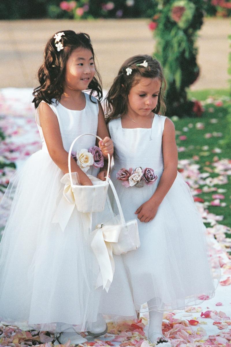 Flower Girls Ring Bearers Photos White Flower Girl Dresses