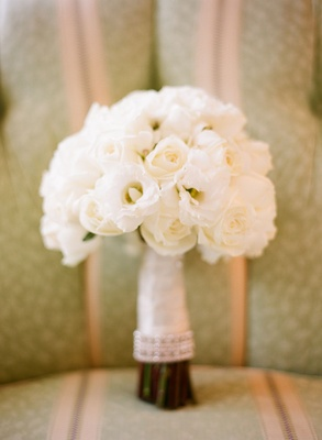Bride's bouquet of white flowers