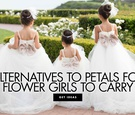 alternatives to flower petals for flower girls to carry down the aisle