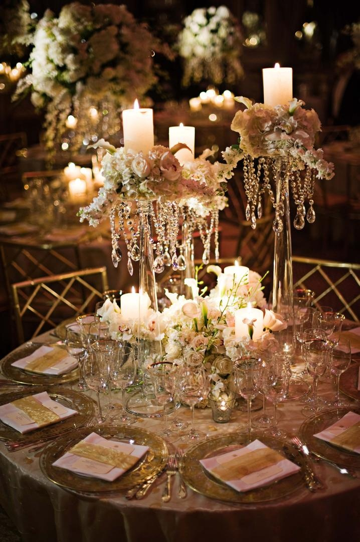 Reception Dcor Photos Tall Crystal Centerpieces Inside Weddings