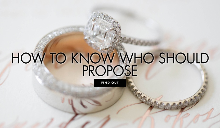 how to know who should propose wedding etiquette ideas traditions
