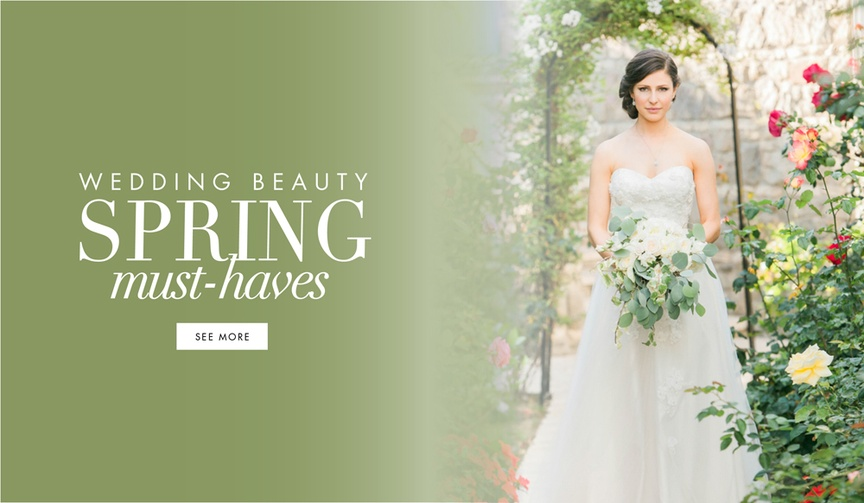 Wedding beauty products and tips for spring brides