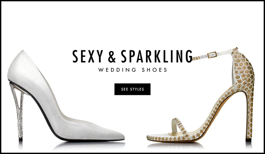 Sexy and sparkling wedding shoes and heels for winter celebrations