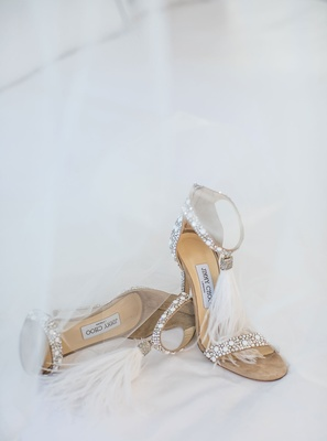 Jimmy Choo wedding shoes feather crystal design VIOLA 110 design