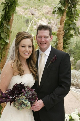 Bride and groom in Tucson, Arizona