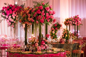 wedding reception pink rose greenery chameleon chair collection chairs gold back