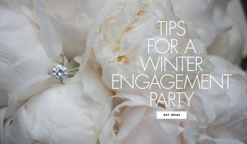 Tips for throwing a winter engagement party wedding party ideas