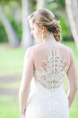 essence of australia gown with illusion back, beading, and intricate detailing