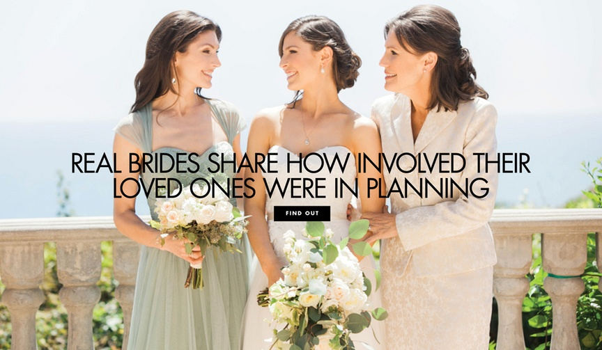 brides share involvement groom partner family mom dad siblings planning wedding decision making
