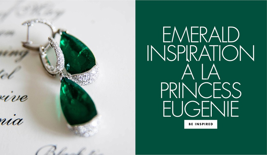 Emerald inspiration a la Princess Eugenie wedding tiara and earrings