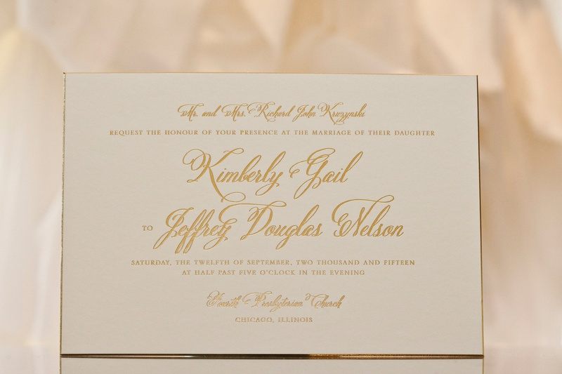Invitations & More Photos - White-and-Gold Wedding