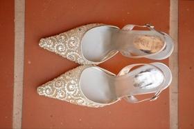 Rhinestone-studded Rene Caovilla heels