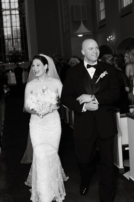 Black and white photo of recessional