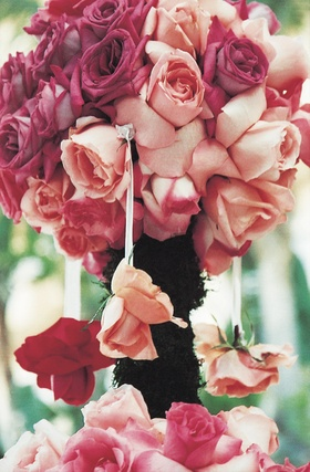 Pomander rose topiary ceremony decoration