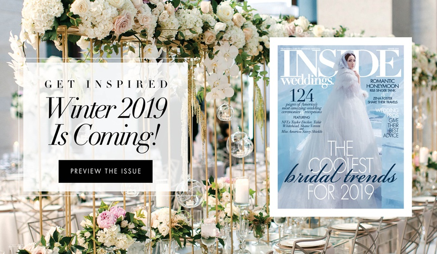 Get inspired winter 2019 is coming inside weddings new issue preview post