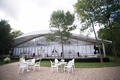 Glass air conditioned tent for backyard wedding