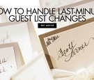 escort cards, how to handle unexpected wedding guests