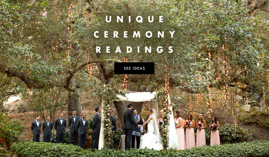 Wedding ceremony traditions and unique ceremony readings