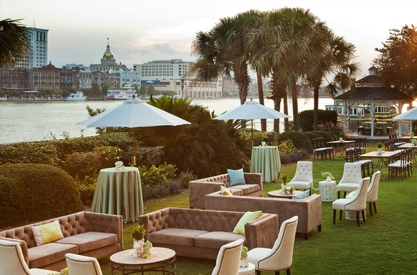 Staged Harbor Lawn Overlooking City