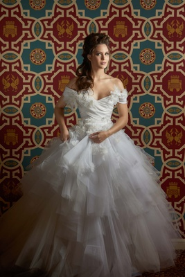 This gorgeous Marchesa gown was flown in for this creative shoot at the InterContinental Hotel Chica