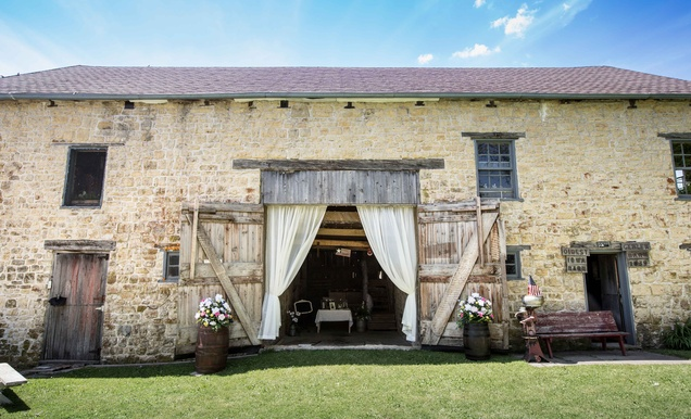 Western Wedding with Rustic Décor at the Oldest Barn in Iowa ...