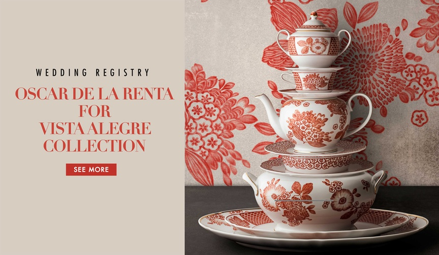 Oscar de la Renta for Vista Alegre tableware collection