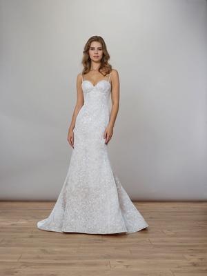 Liancarlo Spring 2020 bridal collection wedding dress silk organza spaghetti strap bustier mermaid