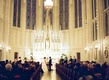 Church wedding ceremony Saint James Chapel in Chicago Christian wedding ceremony