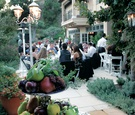Private residence reception featured tiers of fresh fruit