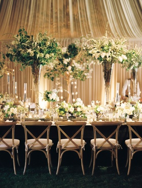 Wedding with masculine meets english countryside theme dark wood black light wood greenery neutral