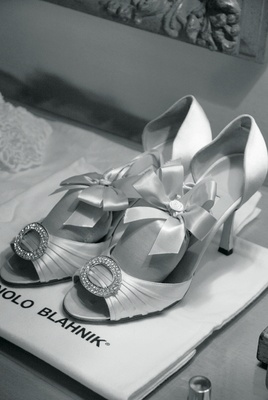 Manolo Blahnik bridal pumps