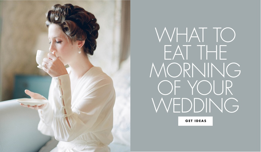 Get a good start on your big day!
