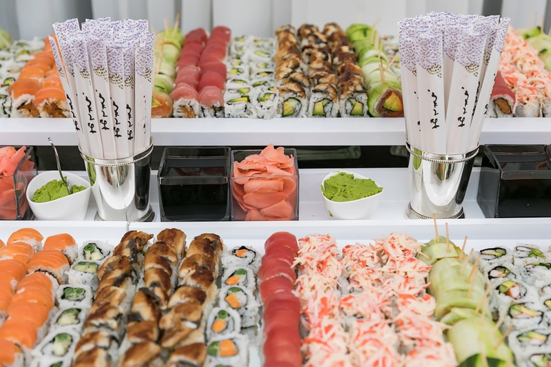 Food Drink Photos Sushi Station Inside Weddings