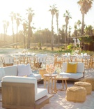 wedding reception lounge area on the beach, destination wedding in cabo san lucas