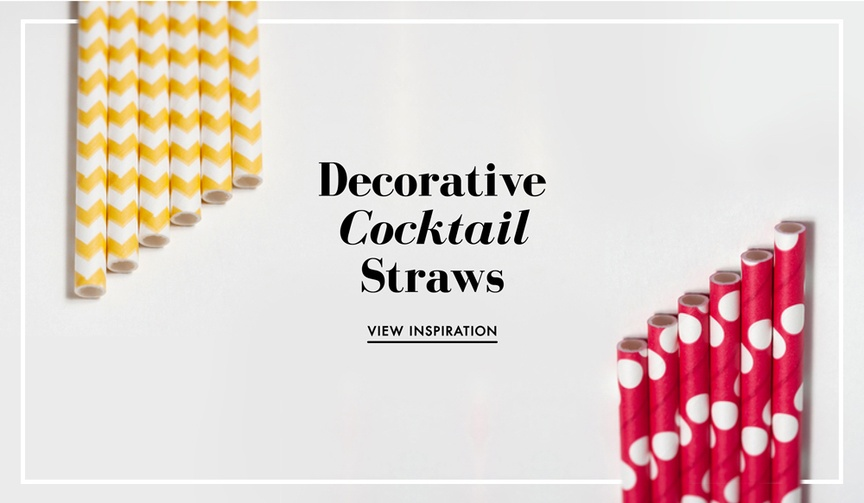How to decorate your wedding drinks with fun straws