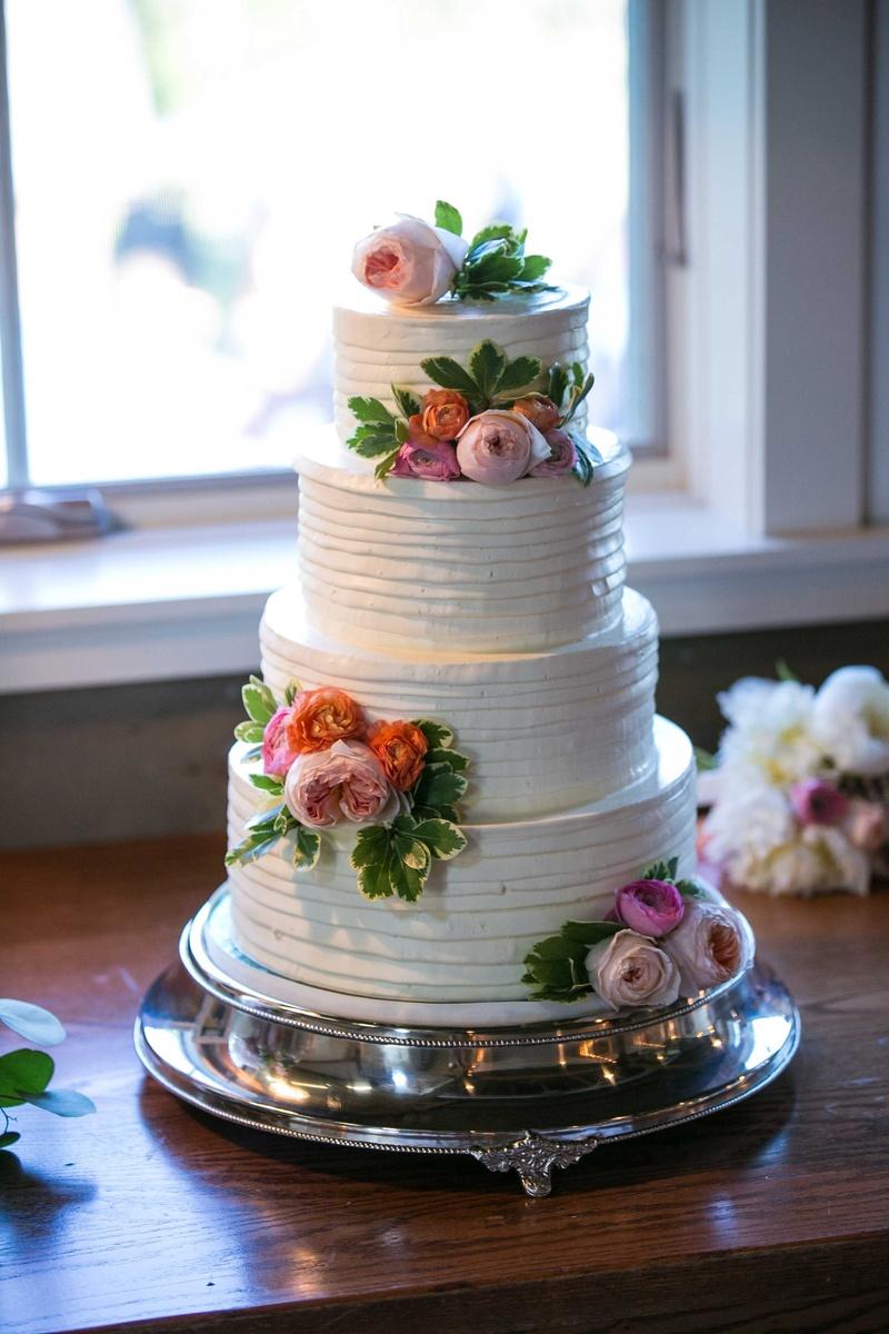 Cakes desserts photos white four tier cake with blush flowers white four tier cake blush icing flowers greenery layered ribboned mightylinksfo