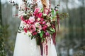 Wildflowers Inc. large cascading burgundy bouquet
